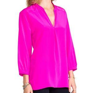 Amanda Uprichard hot pink blouse (M)